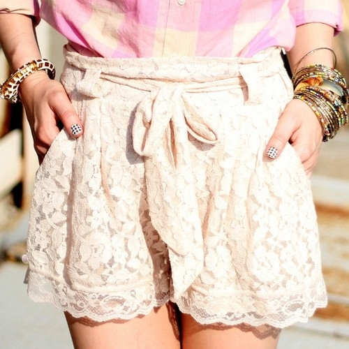 Hello Little Lace Shorts
