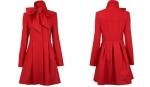 Dorothy Perkins Red Bow Neck Coat