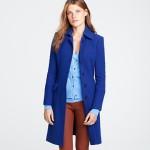Electric blue metro coat