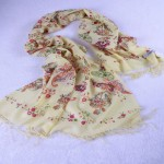 100-pashmina-red-floral-print-scarf-wrap-yellow-shawl