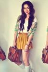 ivory-shirt-dark-brown-bag-aquamarine-cardigan-mustard-skirt_400_large