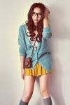 ivory-shirt-dark-brown-bag-heather-gray-socks-mustard-skirt-turquoise-bl_400