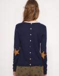 maison scotch star elbow patch sweater