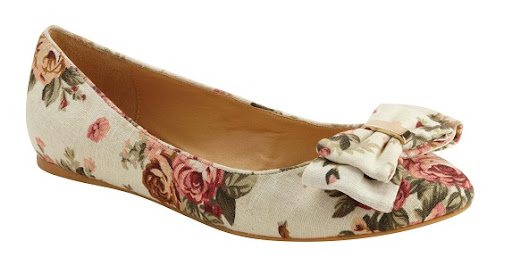 Permalink to Floral Flat Shoes