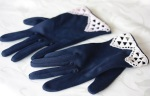 Navy blue vintage gloves with crochet lace detail (from OK Falls antique store)[4]