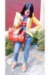 navy-skinny-salvage-jeans-mustard-floral-mags-blazer-superman-dc-shirt