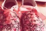 nostalgic floral print shoes-f07002
