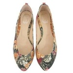Pointy Floral Flats - YesStyle