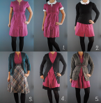 maroon shirt dress styles