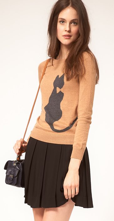 cat-print-sweater-top