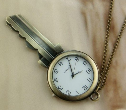 New-Item-of-Wholesale-Vintage-Pocket-Watch-Necklace-in-Key-Pendant