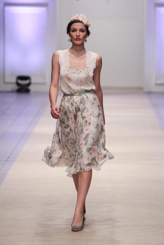 Elegance and feminine glare. Designer: Antonija Ristovska. Model: Ana Stanojkovska