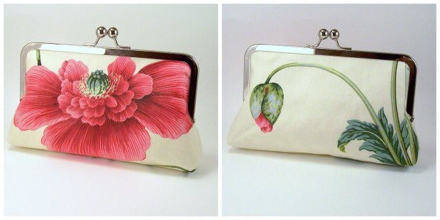 Pink Poppy Clutch by Via Bella
