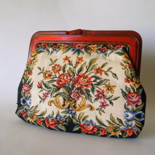 vintage carpetbag