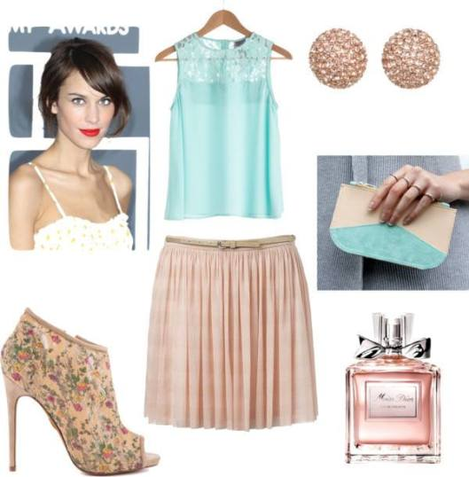Skirt: Forever New/ Pumps: Betsey Johnson/ Earrings: Michael Kors