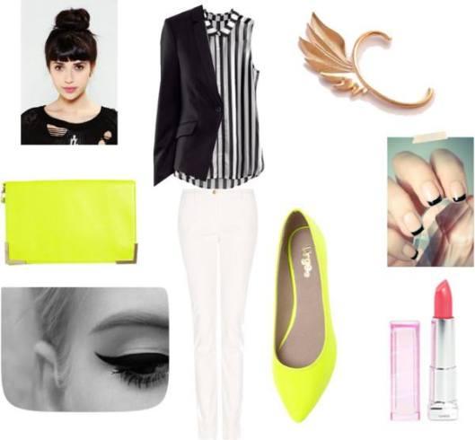 Jacket: H&M/ Pants: Mango/Flats: Urge Suzie/Clutch: Bardot State/Lipstick: Maybelline Color Sensational/Earring:  storenvy.com