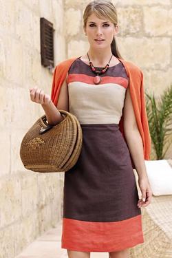 Linen Dress For Summer Office Look Vezilka