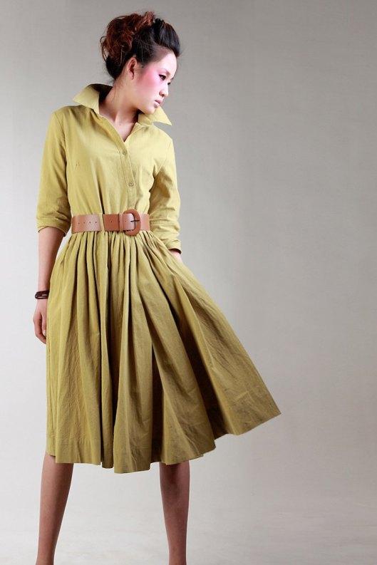 D121-2012-new-high-quality-women-s-new-long-linen-dress