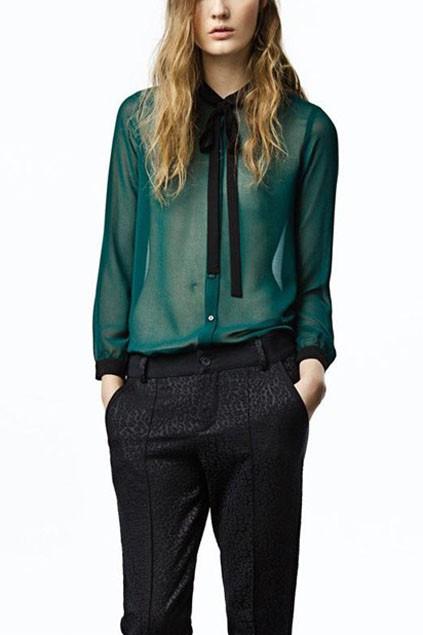 bowknot-detail-sheer-long-sleeve-chiffon-blouse