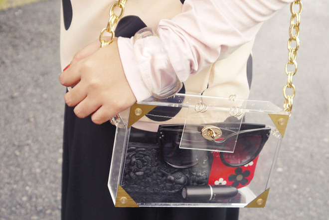 BN Transparent Clutch Box Bag