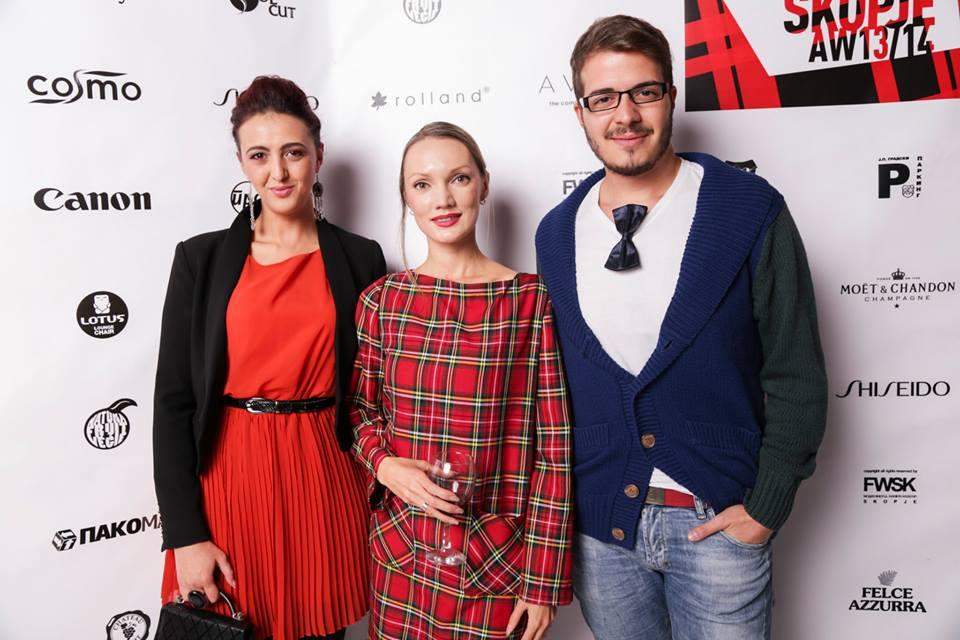 With Sveta Bogova-Jovanovska from FWSK and journalist Ognen Janevski