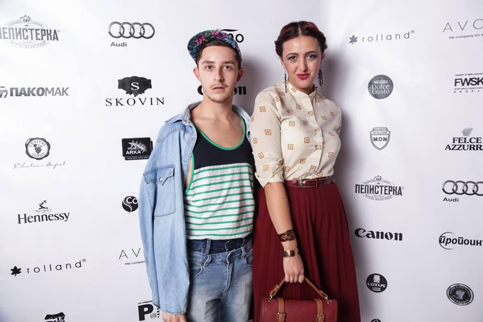 With StyleFiles.mk's journalist Mario Dodovski (Photo: FWSK)