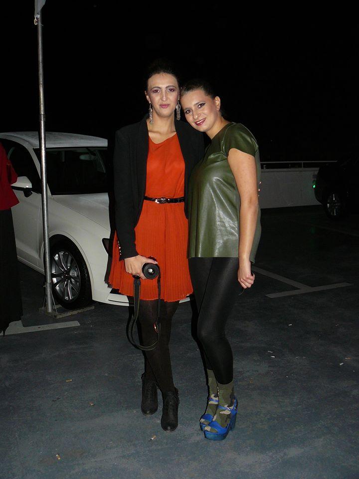 With designer Stefanija Naseska