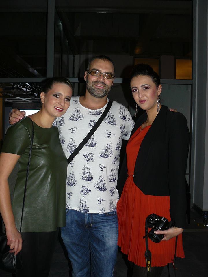 After the shows, with designers Stefanija Naseska and Nikola Petrovski