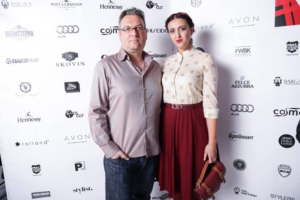 With designer Nenad Sekirarski (Photo: FWSK)