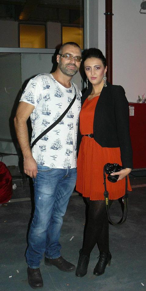 With designer Nikola Petrovski