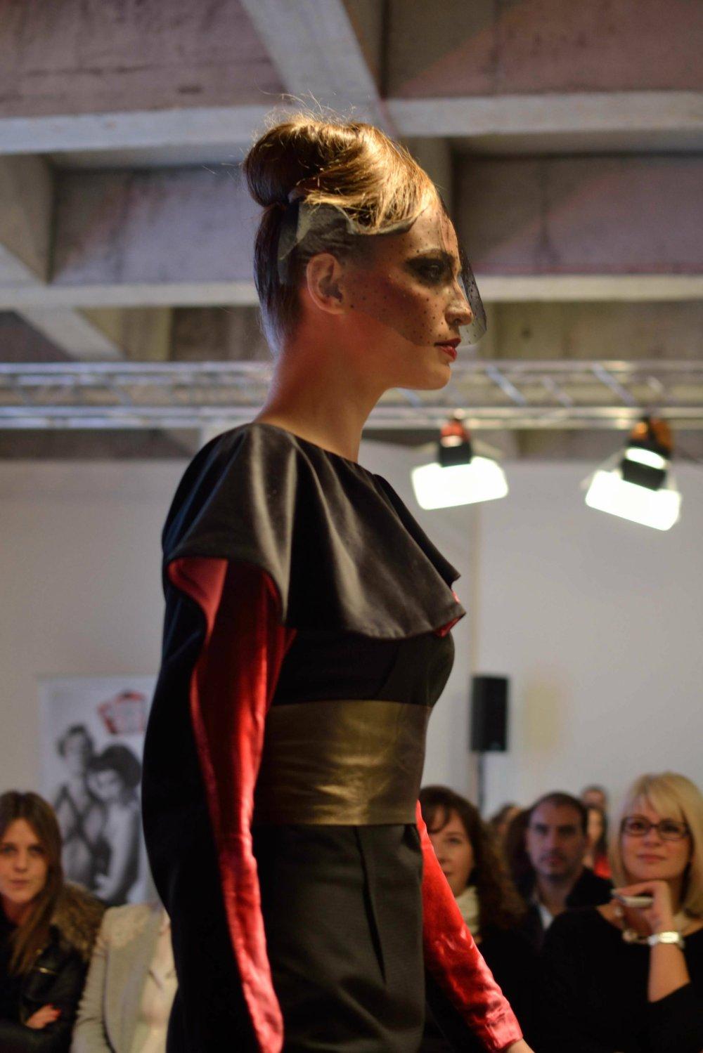 Model Ivana Geleva looked stunning in his creations