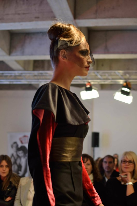 Model Ivana Geleva looked stunning in his creations