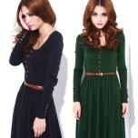 2013-new-dress-2012-autumn-and-winter-vintage-basic-knitted-one-piece-dress-full-dress-plus