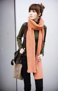 20157-2009-winter-long-knitting-scarf-orange-black-red-grey-1
