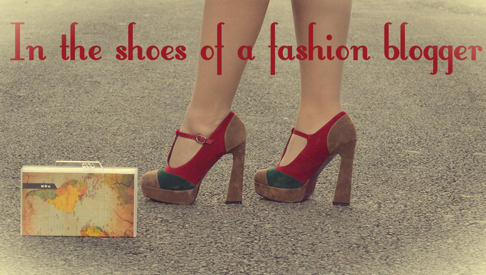 in the shoes of a fashion blogger