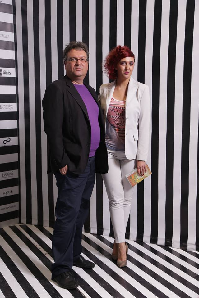 With designer Nenad Sekirarski. Going to Irina's show together is becoming a tradition.